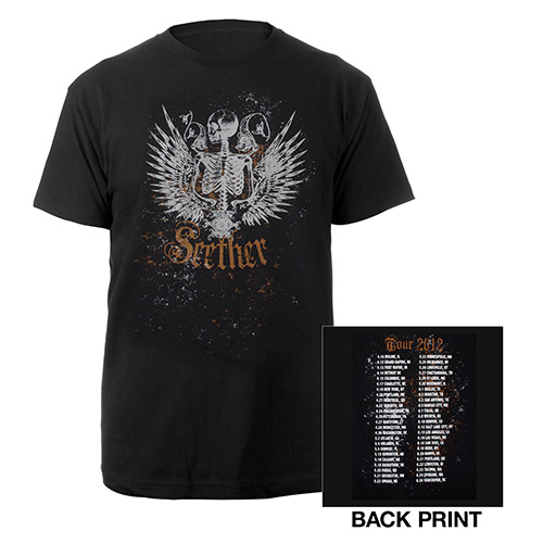 Seether Reflection Tour Dates T-Shirt