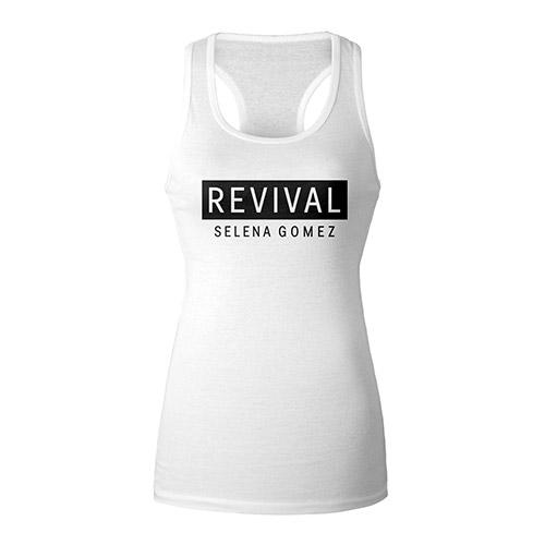 Revival White Racerback Girl's Tank