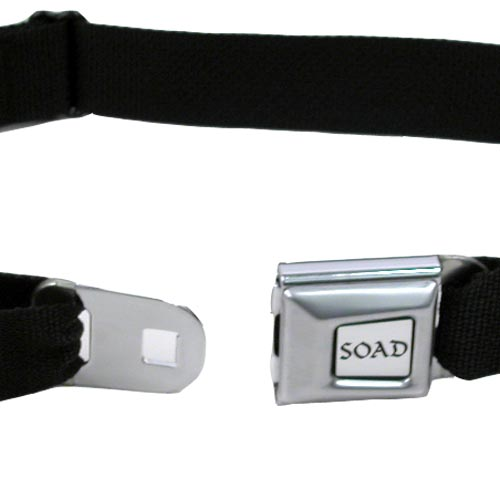 SOAD Logo Seatbelt Buckle Belt