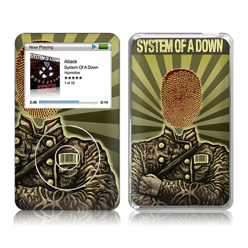 Thumbprint Soldier iPod Classic Skin