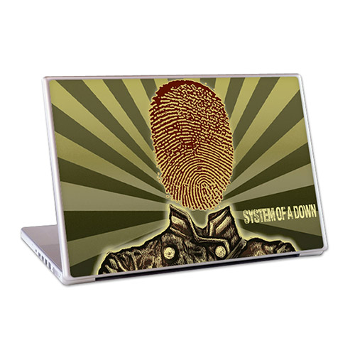 "Thumbprint Soldier 15"" Lap Top Skin"