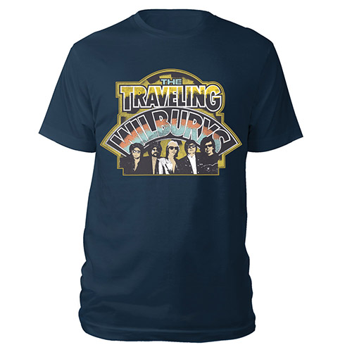LOGO BAND PHOTO NAVY TEE
