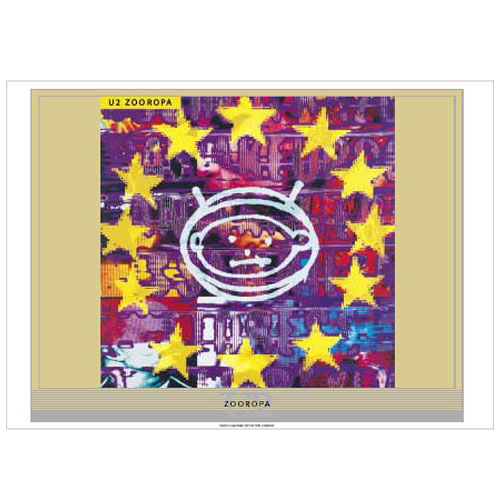 Zooropa Album Lithograph