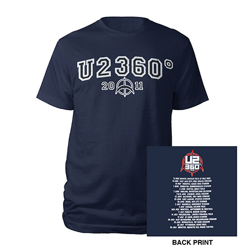 U2360 2011 Collegiate Tour Logo Tee