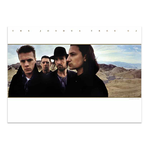 U2 The Joshua Tree 1987 Lithograph