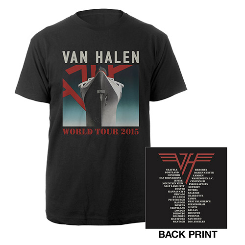 Van Halen World Tour 2015 Ship Tee