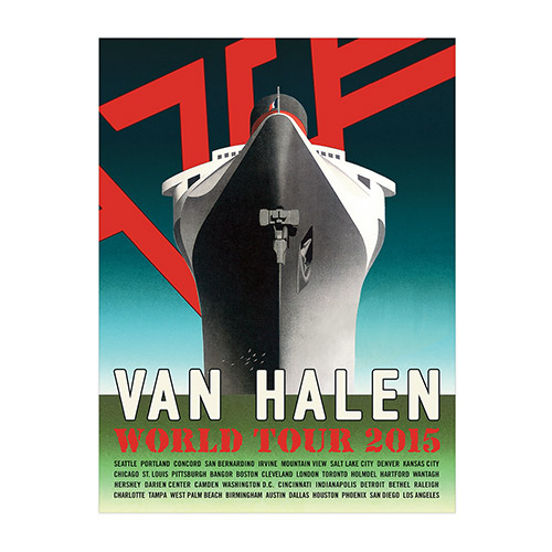 Van Halen World Tour 2015 Ship Poster