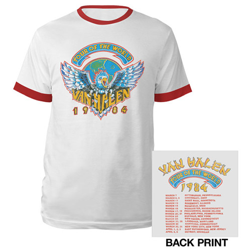 Tour Of The World 1984 Ringer Tee