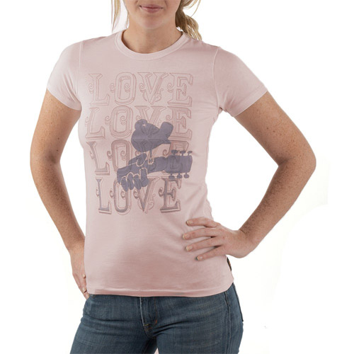 Woodstock Love Love Love Womens Tee