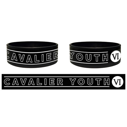 Black Cavalier Youth Silicon Wristband