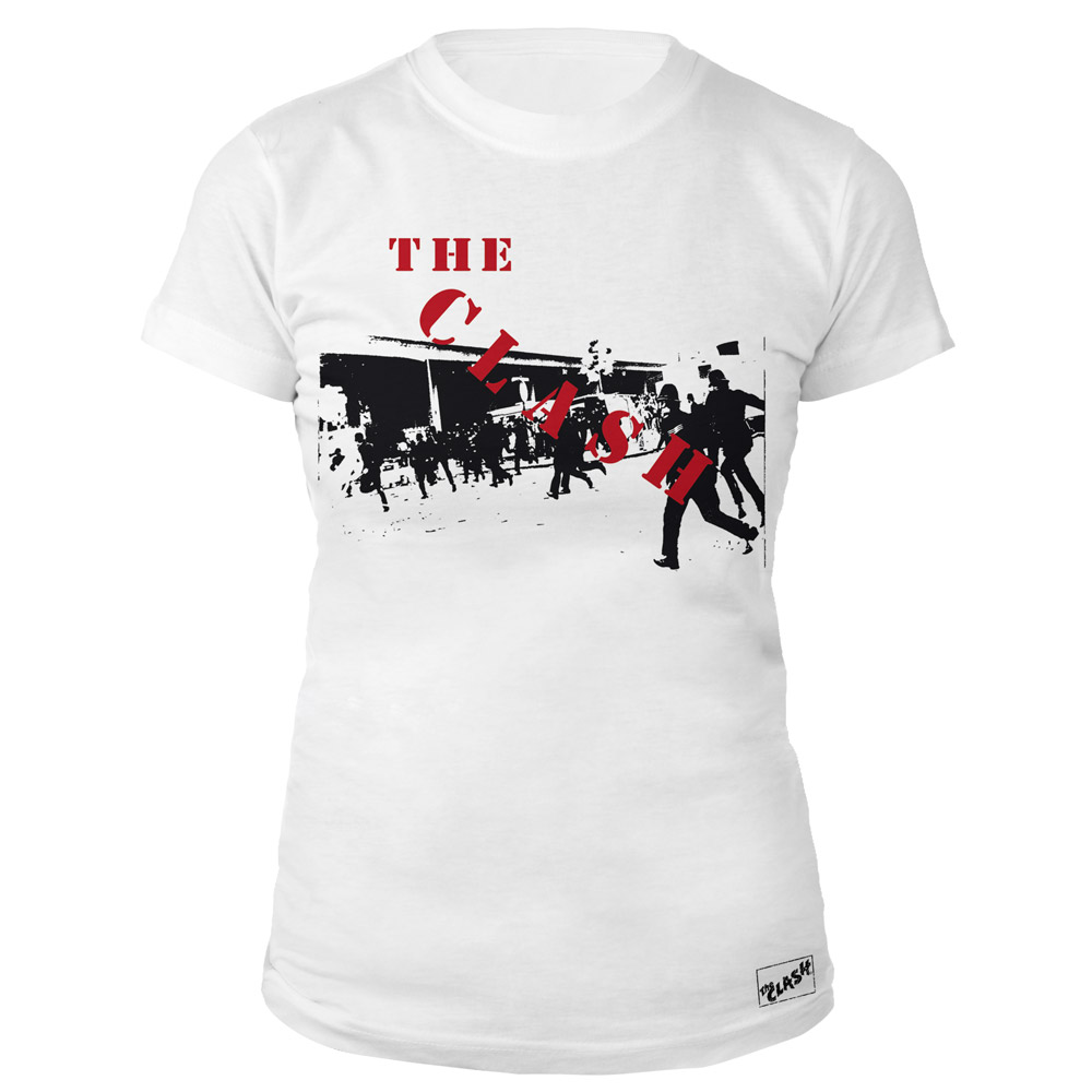 The clash official store the clash wht 1st ever ladies t shirt