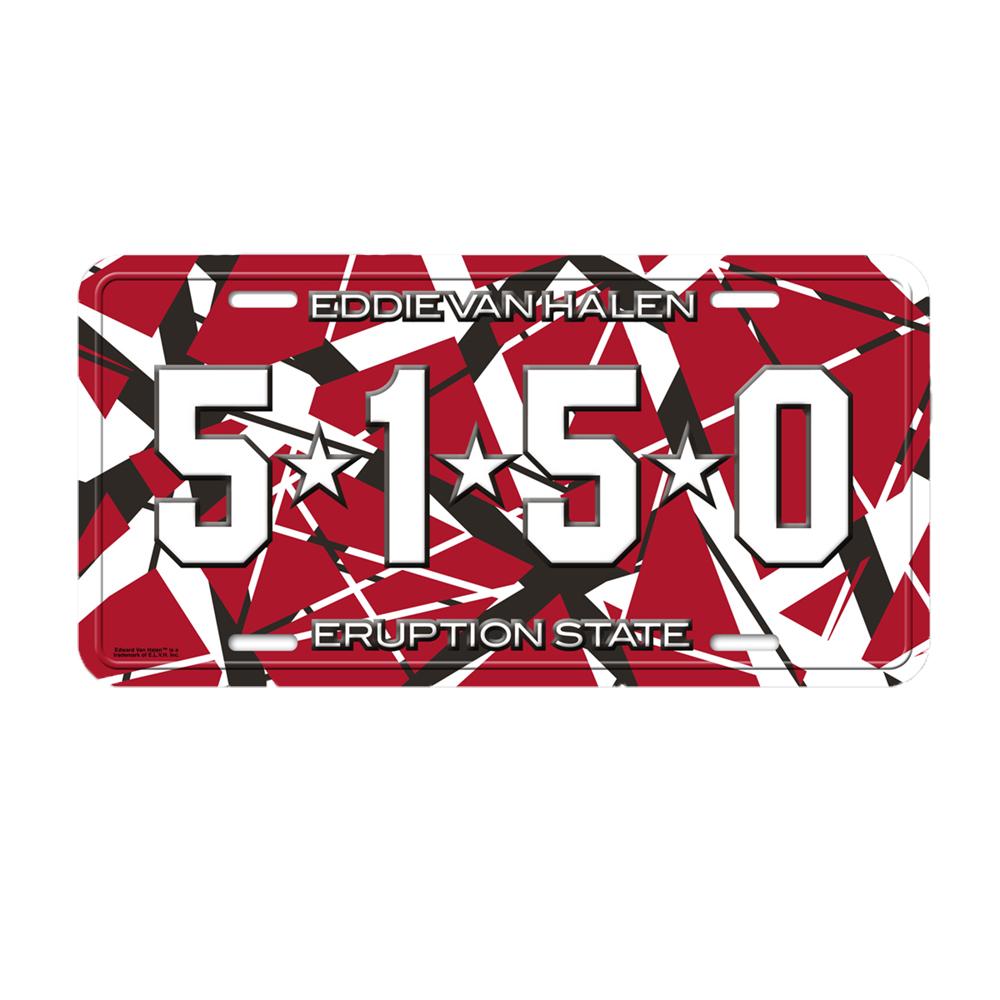 Eddie Van Halen Official Store 5150 License Plate : EVH70809 from u2.fanfire.com size 1000 x 1000 jpeg 931kB