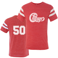 Chicago 50th Anniversary Football Tee