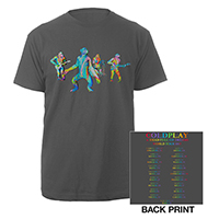 Coldplay Chimps Europe 2017 Tour Charcoal T-shirt