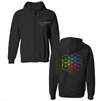 Coldplay Flower of Life Zip Black Hoody