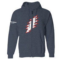 Lightening Bolt Zip Hoodie