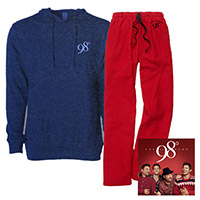 Let It Snow CD, Hooded Long Sleeve Tee and Flannel Pant Bundle