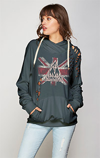 Def Leppard Thrashed pullover hoodies