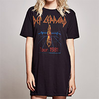 Def Leppard Short Sleeve T-Shirt Dress