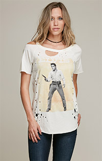 Elvis Presley Destroyed Cut-out Back Tee