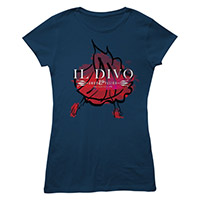 Foil Dancer/Logo Navy Women's T-shirt
