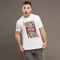 Beyond Wonderland Queen of Hearts Men's White Tee
