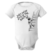 State Of The World Spray Paint Baby Onesie