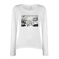 White Long Sleeve Life is short Women's Tee