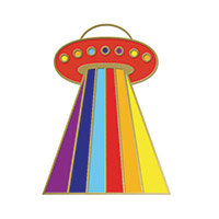 Kesha Enamel Pin: Spaceship