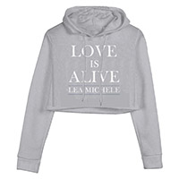 Love is Alive Crop Hoodie