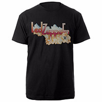 Led Zeppelin II Logo and Clouds Black T-Shirt