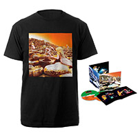 Led Zeppelin Houses Of The Holy Deluxe Edition CD + Album Black T-Shirt