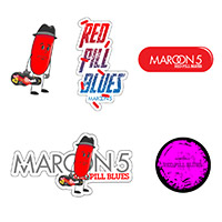 Pre-Order Maroon 5 Red Pill Blues Sticker Set*