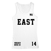 Made in America East White Mesh Tank