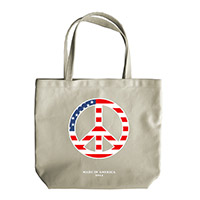 Made in America Peace Sign Tote Bag