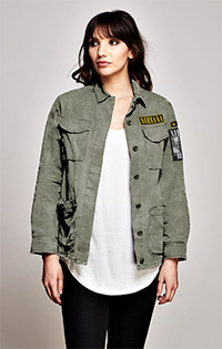 Nirvana Vintage Patched Military Jacket