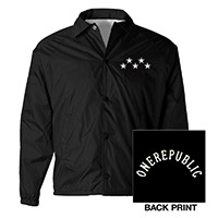 OneRepublic Black Windbreaker