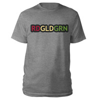 RDGLDGRN Grey Bubble Logo Tee