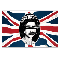 God Save The Queen Flag Lithograph. Limited Collector's Edition