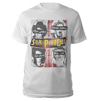 Sex Pistols Faces White T-shirt