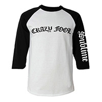 Crazy Fool Mens Raglan