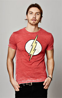 The Flash Lightning Bolt Men's Burnout Crew