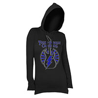 Ladies Blue Rhinestone Hooded Tee
