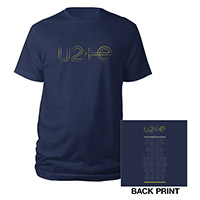 U2ie Tour Logo T-shirt Navy