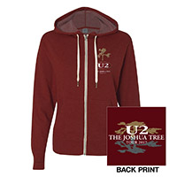 The Joshua Tree Tour 2017 Women's Full Zip Hooded Sweatshirt