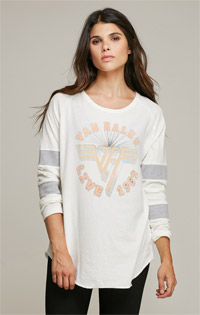 Van Halen Long Sleeve Athletic Stripe Tee