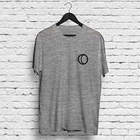 YMAS Logo/Raise a Glass Grey T-shirt