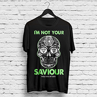YMAS I'm Not Your Saviour Black T-shirt