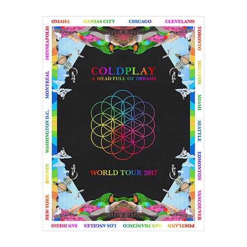 Coldplay AHFOD 2017 North American Tour Poster
