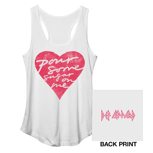 Pour Some Sugar On Me Racerback Ladies Tank